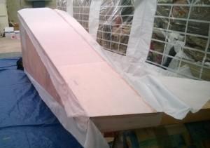 Marouflage du fuselage
